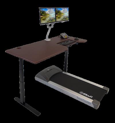 Lander Treadmill Desk in Clove Mahogany