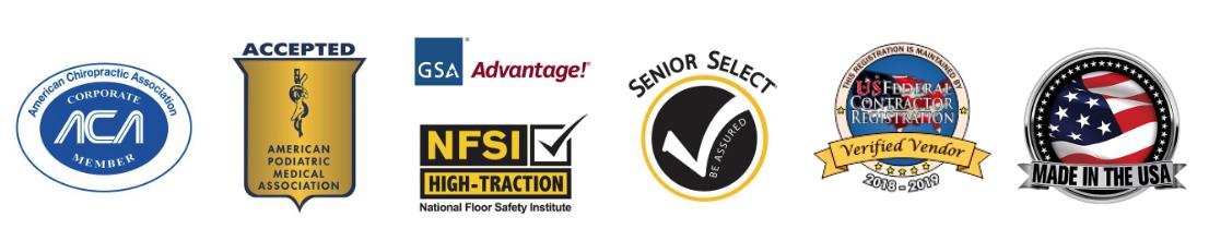 Certification Logos for EcoLast Premium Standing Mats