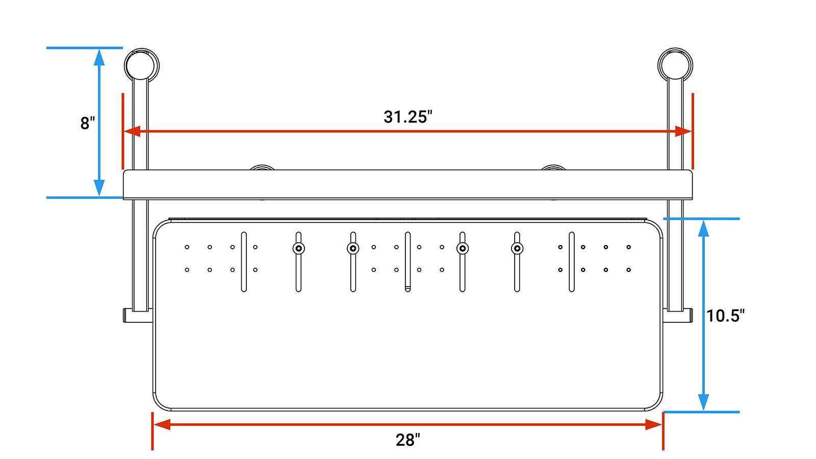 SteadyType Exo Top View Diagram