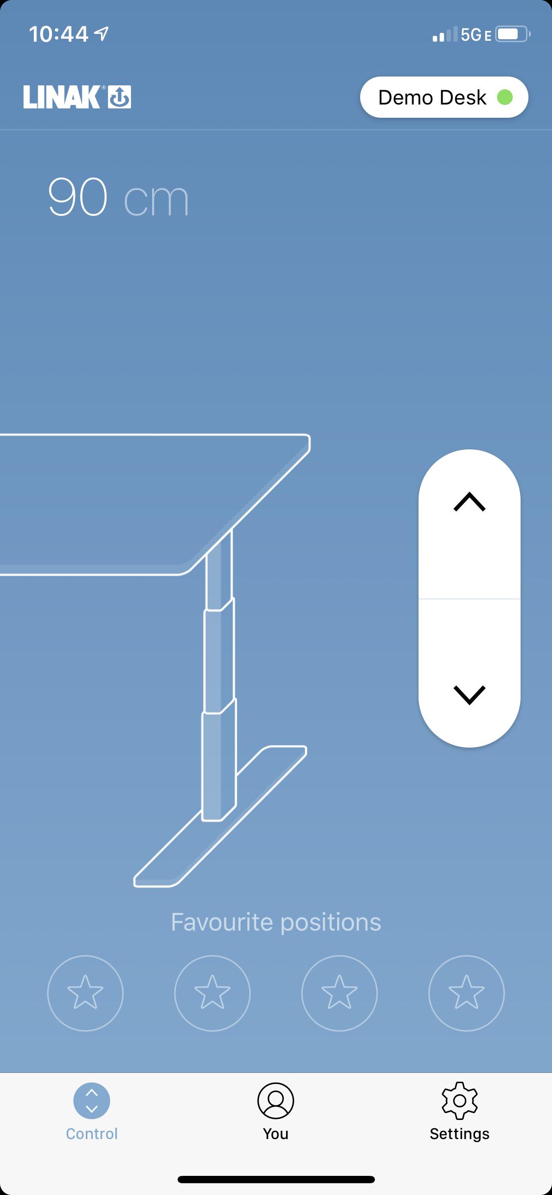 The Linak app for Lander and Lander Lite Desks