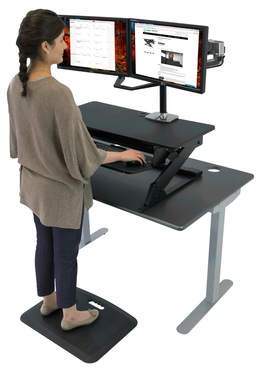 Convert any desk into a standing desk with the Ziplift.