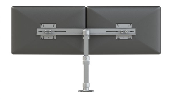 Xtend Dual Crossbar Monitor Arm - Top View