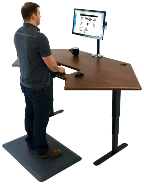 Astounding Cascade Corner Standing Desk Download Free Architecture Designs Grimeyleaguecom