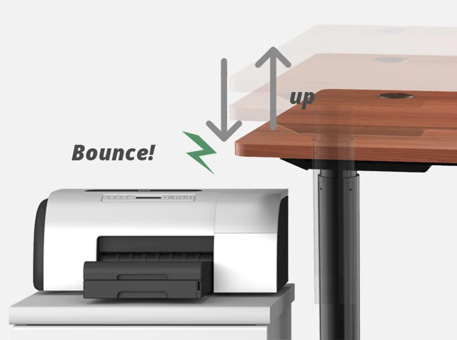 iMovR+Eureka i1 Standing Desk Anti-Collision Feature