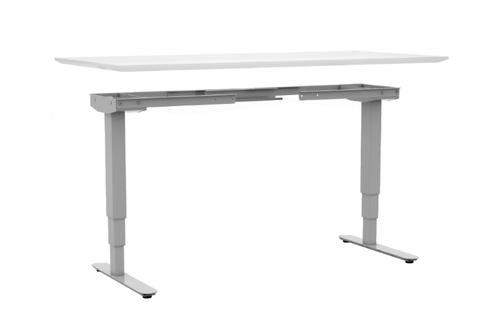 With DIY, you can pair your standing desk base with any top.