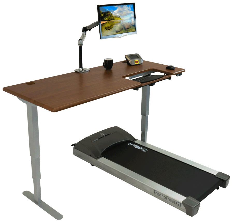 Freedom Cascade Shaker Cherry Treadmill Desk
