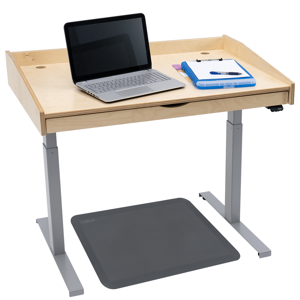 iMovR Baltic Birch Captain's Desk—QuickShip