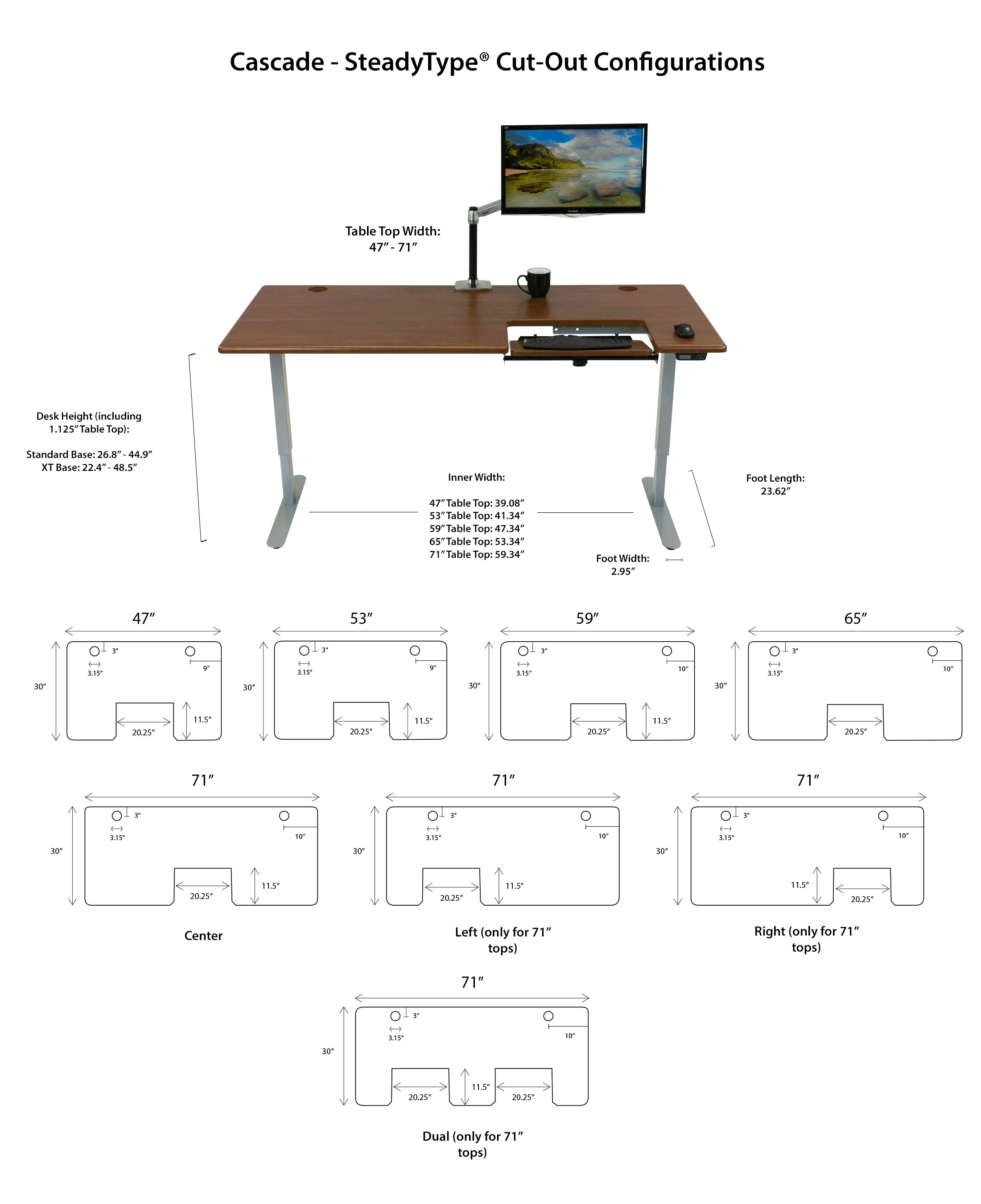 Imovr Cascade Standing Desk Schematic The Freedom Base