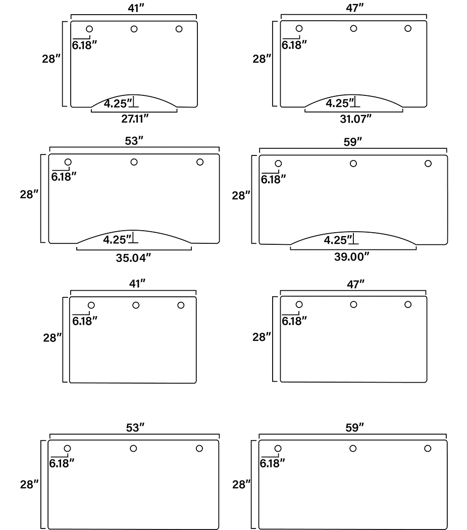Ensign's Desk Dimensional Diagram (2/2)