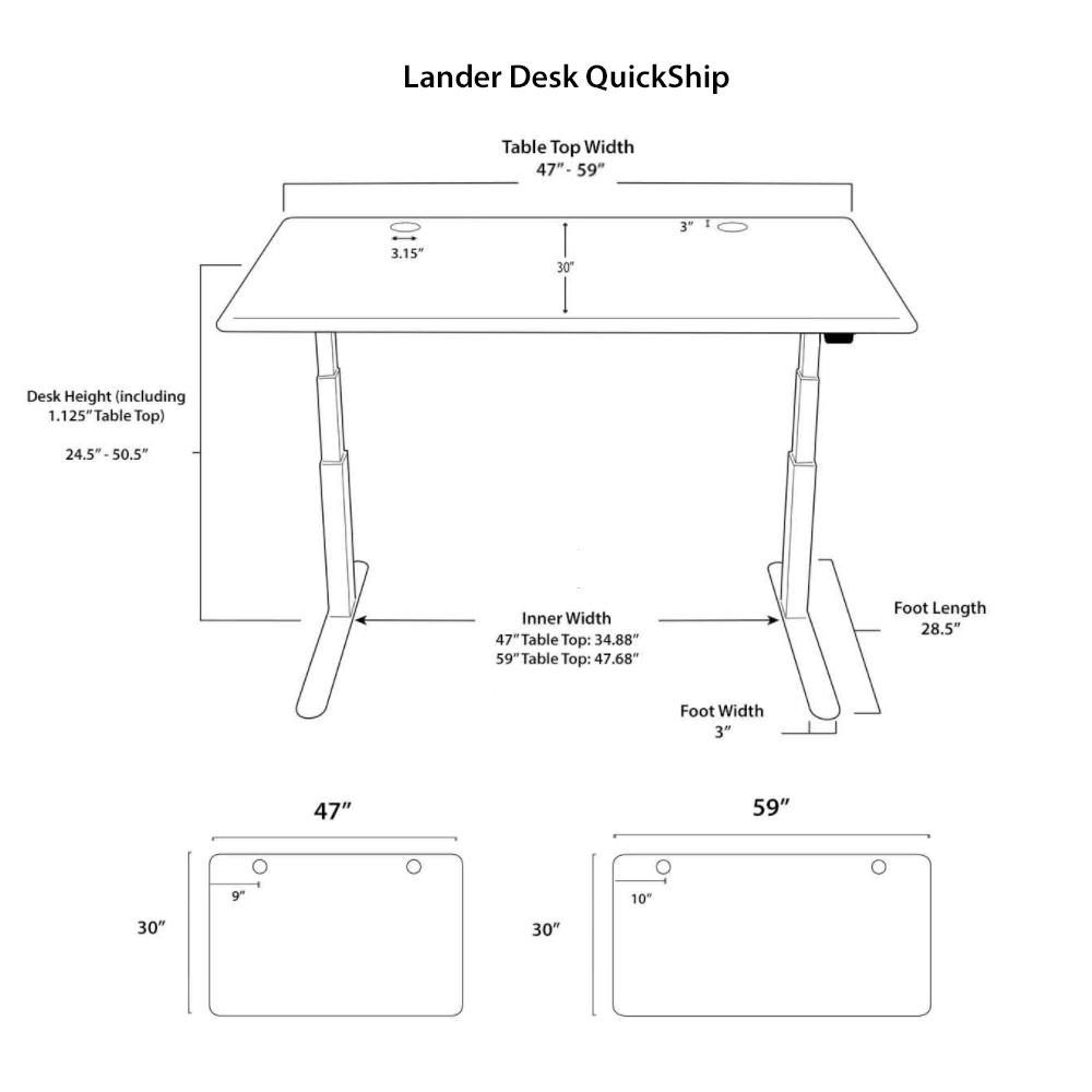 Lander Standing Desk Diagrams