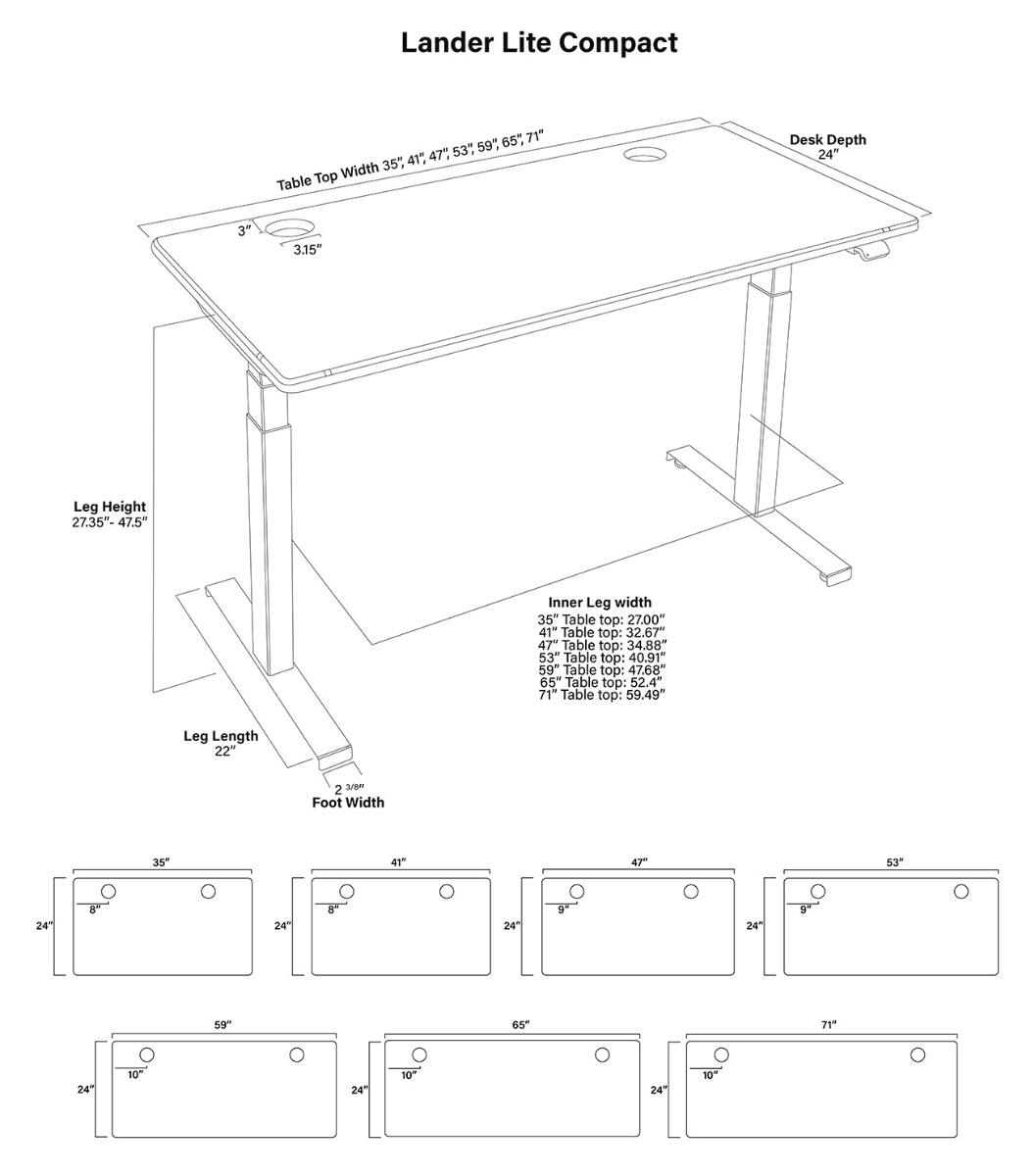 Lander Lite Compact Product Diagram