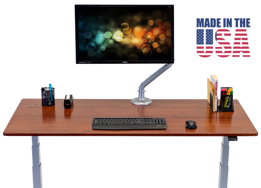 The solid wood Lander Lite Treadmill Desk is made in the USA.