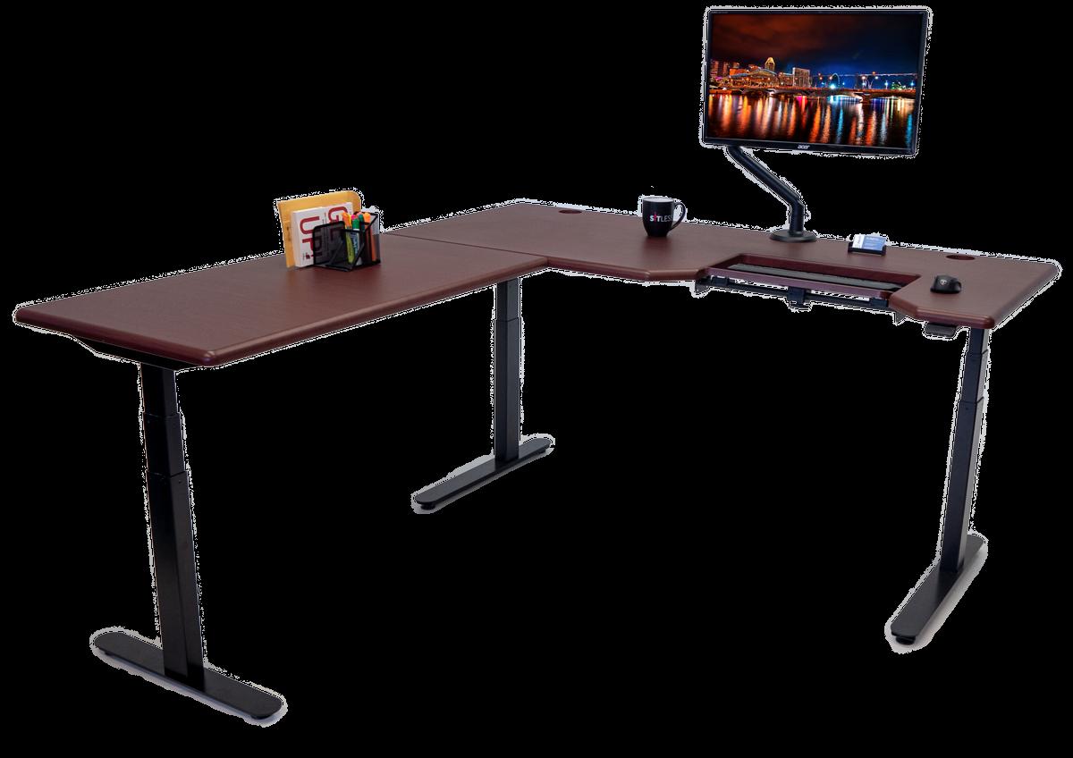 iMovR Lander L-Desk with SteadyType