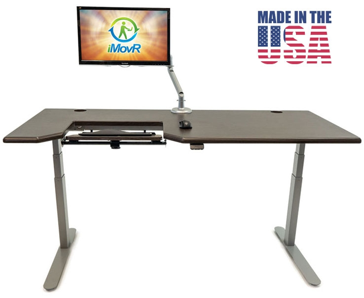 iMovR Lander Standing Desk with SteadyType