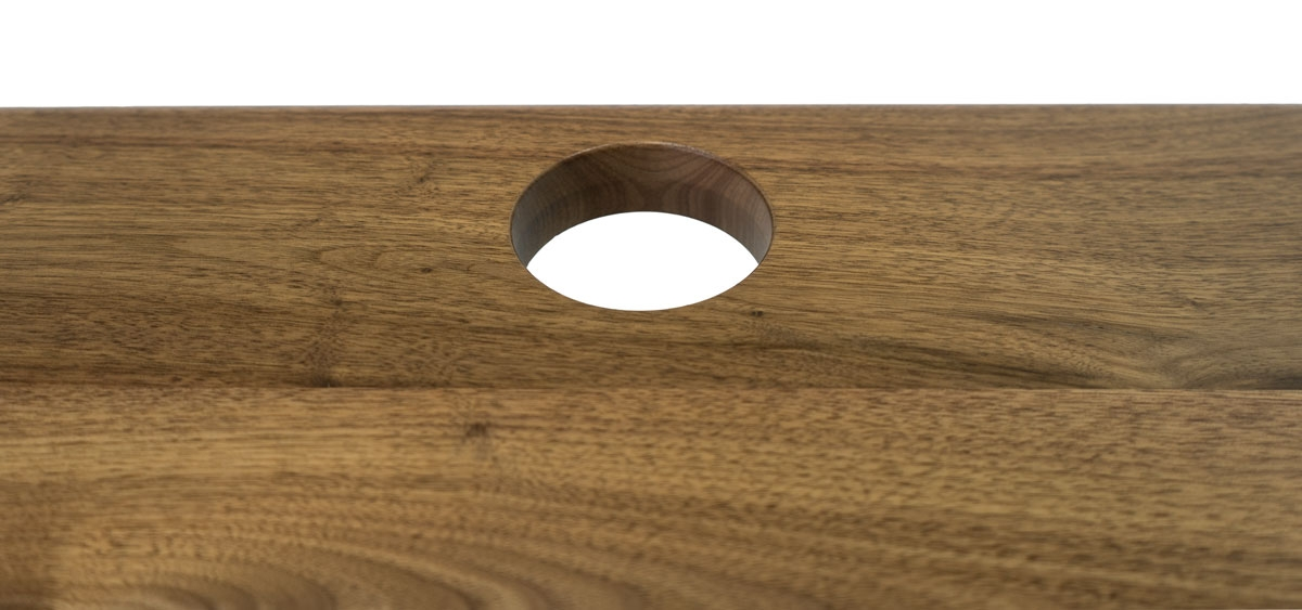 Lander Solid Wood Grommet Holes