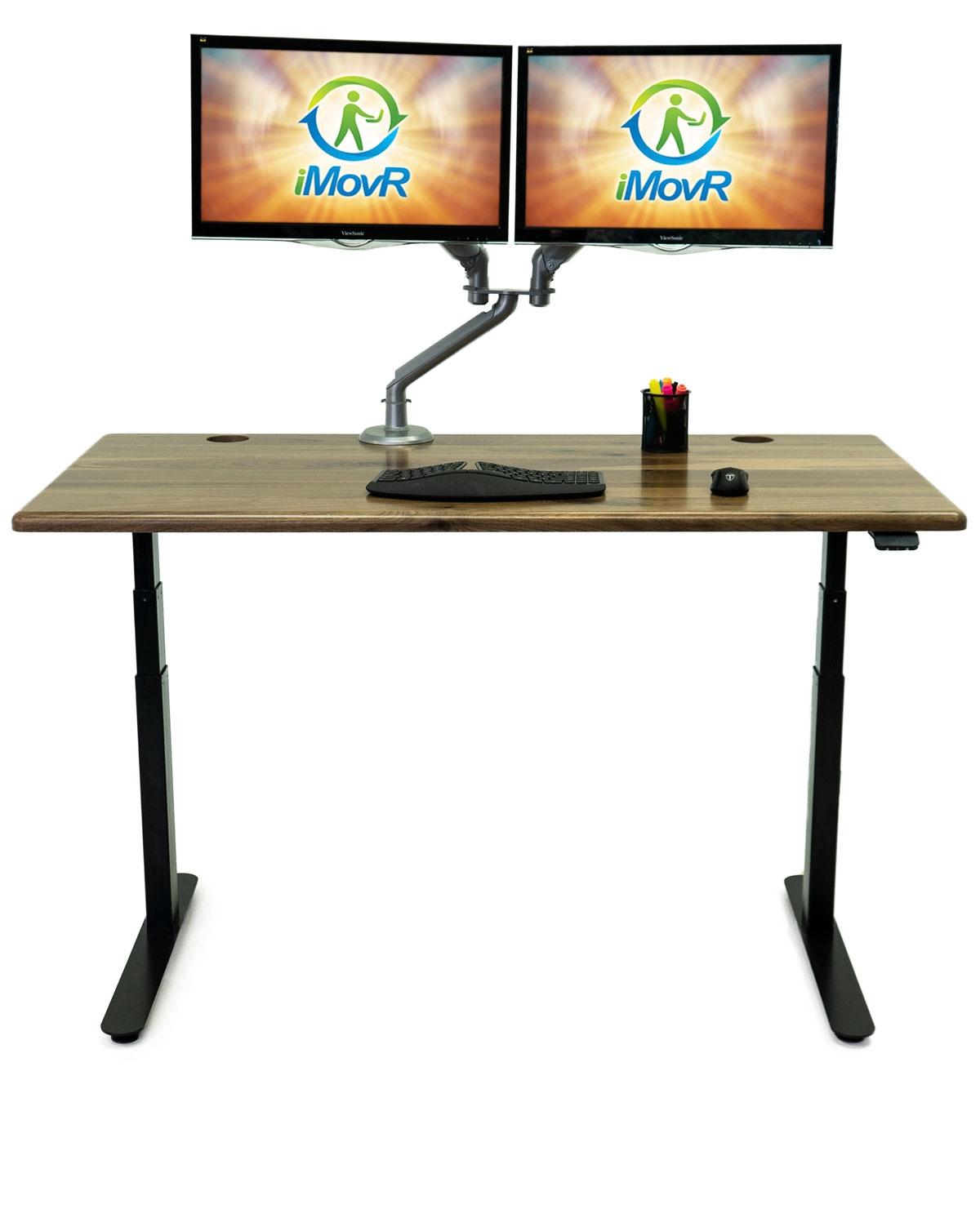 Solid Wood Lander Desk, 59 inch Natural Rustic Walnut