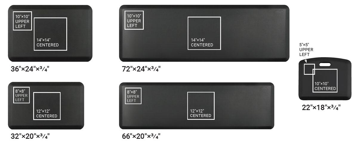 iMovR Custom Mat Logo Size