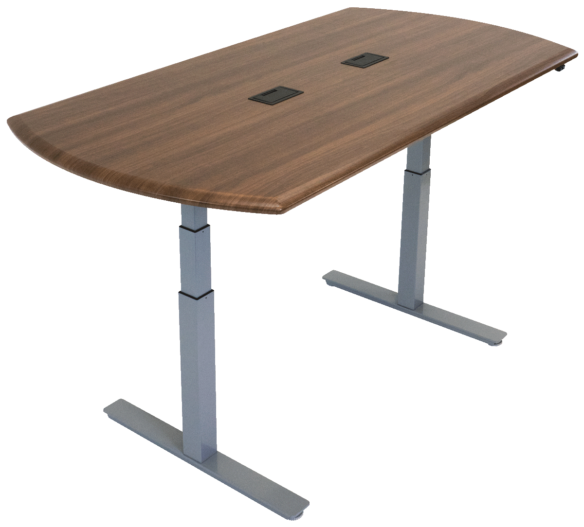 iMovR Synapse Adjustable-Height Conference Table - Convex