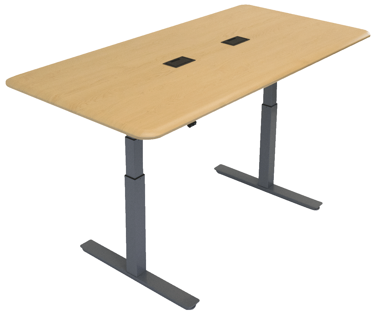iMovR Synapse Adjustable-Height Conference Table - Rectangle