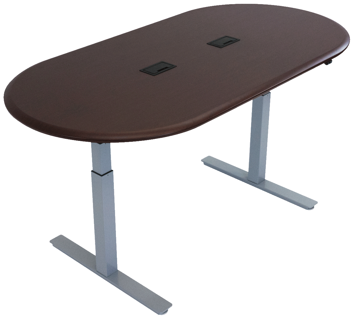 iMovR Synapse Adjustable-Height Conference Table - Racetrack