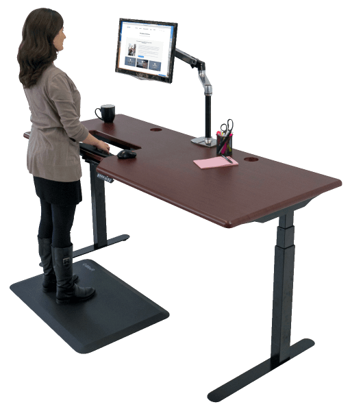 iMovR Elite Standing Desk with ThermoTread GT