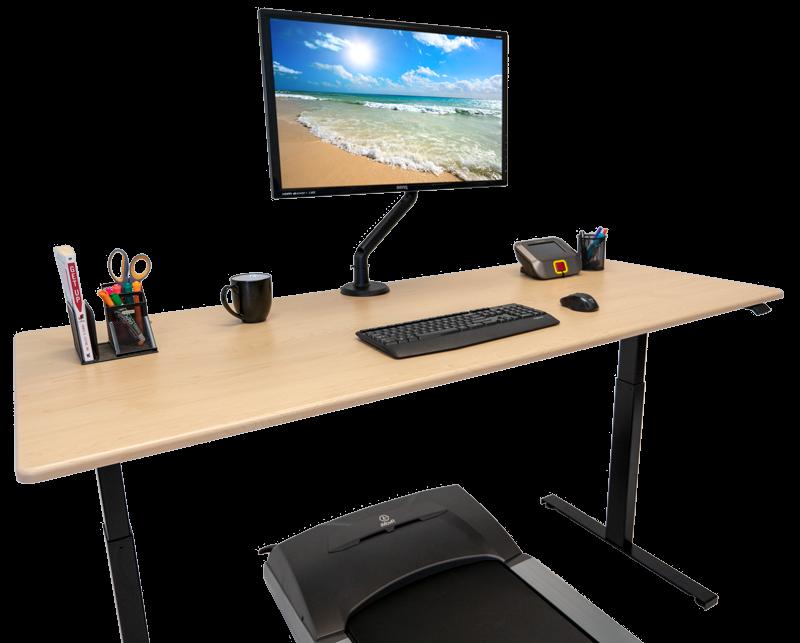 Lander Lite Treadmill Desk in Light Maple