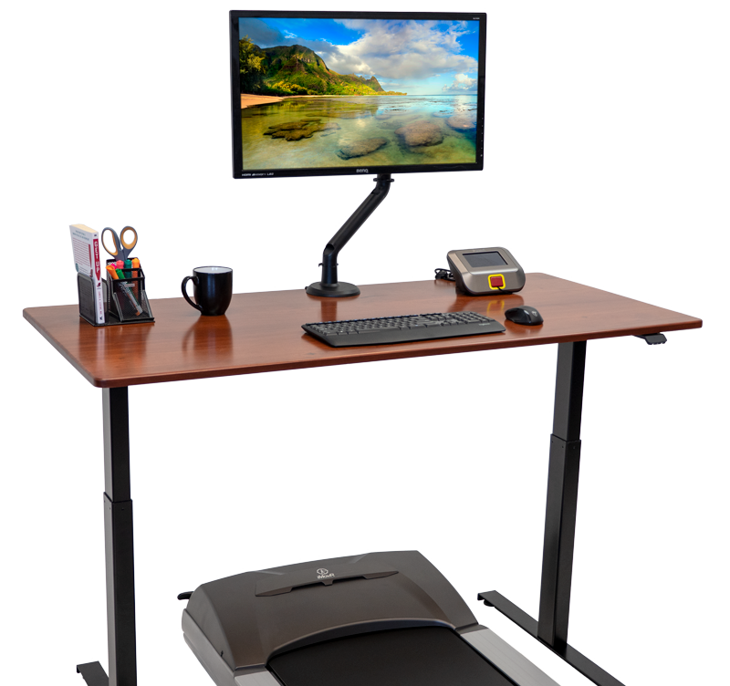 Lander Lite Treadmill Desk with Solid Wood