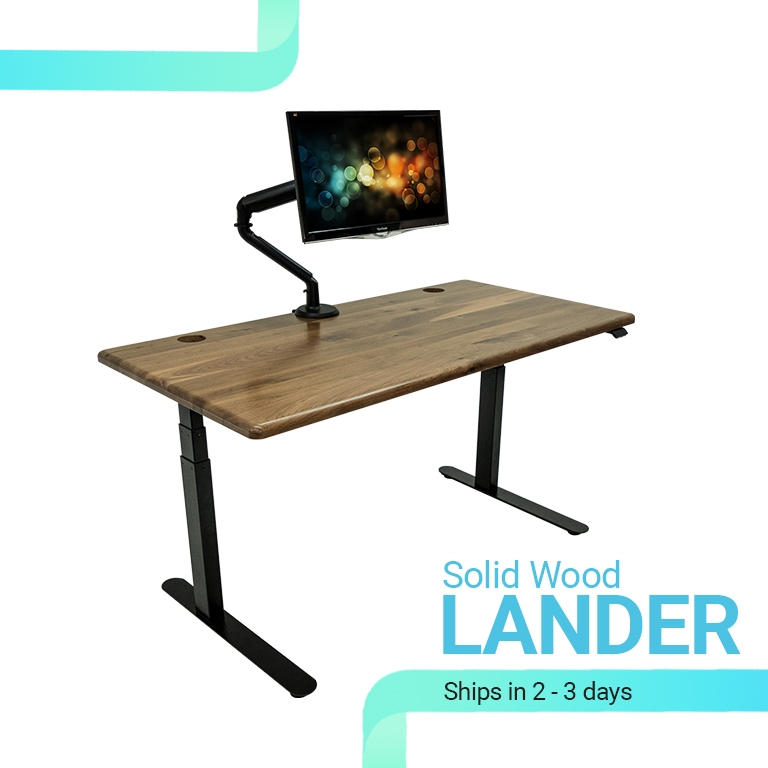 Solid Wood Lander QuickShip Standing Desks