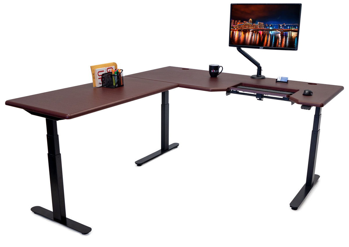 iMovR Lander L-Desk with SteadyType
