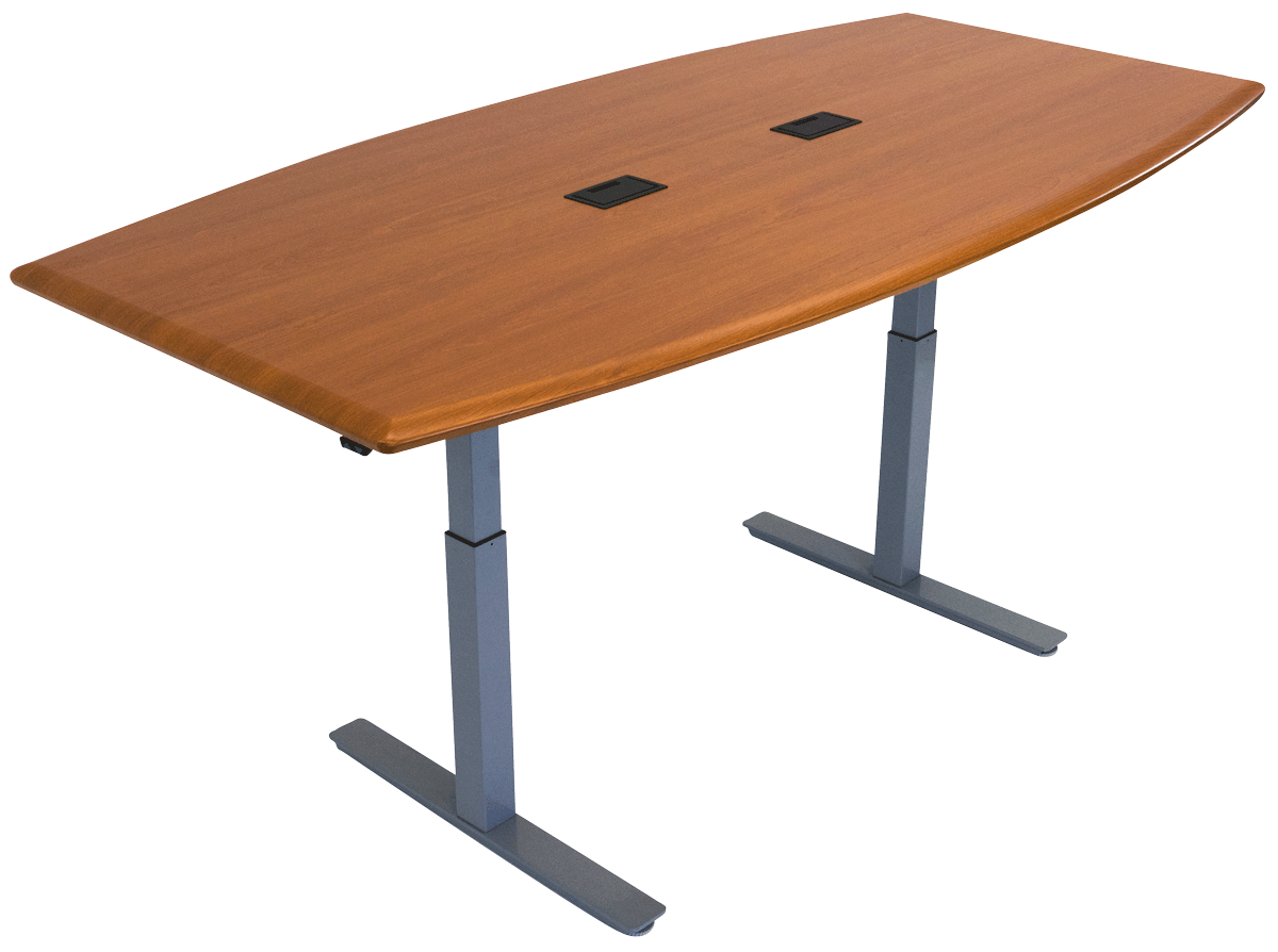 iMovR Synapse Adjustable-Height Conference Table - Boat