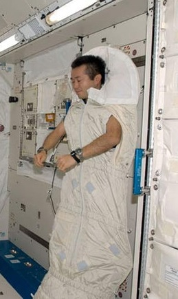 sleeping astronaut