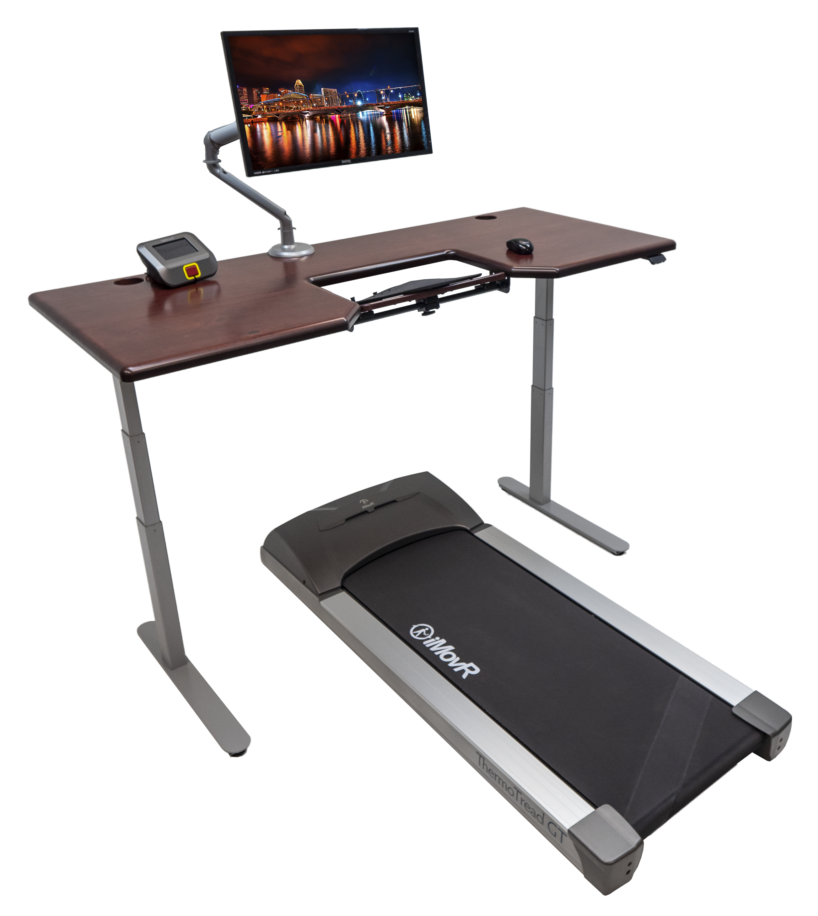 iMovR Lander Treadmill Desk with SteadyType